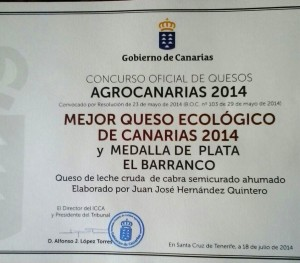 Premio Queseria El Barranco