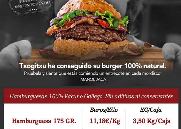 Hamburguesas 100% Vacuno Gallego